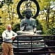 Buddha and my hubby in the Japanese Tea Garden.