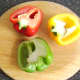 Leftover bell pepper halves to be used in stock