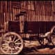This restored wooden wagon in Bodie was photographed by Dick Rowan of the National Archives and Records Administration (NARA) in April 1972.