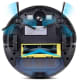 Robot vacuums like the ILIFE have a long main brush at the back of the device and two side brushes