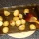 Roasting potatoes in olive oil