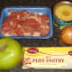 Pork, pineapple and apple pie ingredients