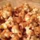 After a couple of times in and out of the oven and stirring, enjoy the fruit of your labor.  Delicious, homemade caramel popcorn!