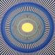 Pulsating circles and lines optical illusion