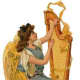 Vintage angel with gold harp