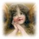 Free vintage Christmas angel clip art