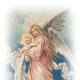 Vintage Christmas angel holding baby Jesus