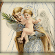 Free vintage Christmas angel clip art: Angel with baby Jesus
