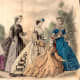 June 1864: Victorian womens and girls dress fashions