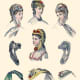 May 1869: Assorted Victorian bonnets and hats from Englishwoman's Domestic Magazine