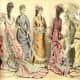 June 1877: assorted Victorian womens summer fashions