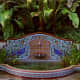 romantic blue and terracotta water fountain - ideal for a Mediterranean style garden