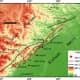Location of Longmenshan fault
