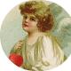 Free vintage Valentine's Day cherub clip art