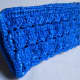 BOXY Crochet Pouch (photographed while being propped up)
