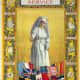 Poster showing a nurse above the flags of the Allies along with illustrations of surgical dressings for war relief.