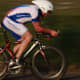 A Mapperley CC cyclist on his Specialized Aero bicycle. You don't always need to put the cyclist in the middle of the frame as part of panning photography