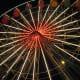 Knoebels Giant Wheel, lit up at night