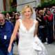 UGGs and a wedding dress