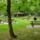 Picnic areas & restrooms north side of Cullen Park