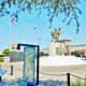The Talking Door art exhibit next to the Vietnam War Memorial