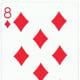 8 of diamonds clip art