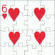 6 of hearts with puzzle effect