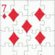 7 of diamonds clip art