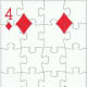 4 of diamonds with puzzle effect