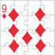 9 of diamonds free clip art