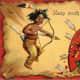 Vintage kids: Native American Indian Valentine's Day card