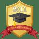 graduation scrapbook embellishment: 2011 shield with graduation cap