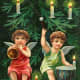 Two vintage Christmas angels