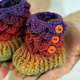 These baby booties are so cute! There's a lot of crocodile stitch patterns where these came from - Bonita Patterns.