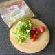 Pea shoots, cherry tomatoes and radishes