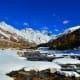 Snowfall in Chitkul, the last village on Indian- Tibet border