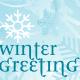 Winter clip art: winter greetings