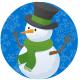 Winter clip art: Snowman in a circle