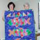Batik quilt named Squishy Fishy Quilt