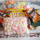 Some of the ingredients: Marshmallows and  coated peanut  candies.
