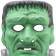 Green Frankenstein three-dimensional mask