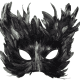 Mardi Gras feathers half-mask