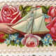 Victorian roses with sailboat * See downloading instructions above