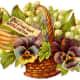 Wicker basket of Victorian flowers