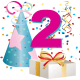 2 year old birthday clipart
