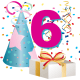 6 year old birthday clipart