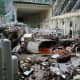 Damage in the generator hall. (AP Photo/ Rossiiskaya Gazeta Newspaper)
