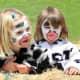 Cute cow face paint design