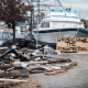 A town seemingly abandoned after the hurricane.