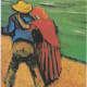 Lovers in Arles (detail) - Vincent Van Gogh- Oil on Canvas - March 1888
